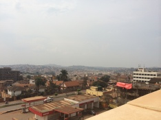 The view of Kampala from the roof of Acacia Mall