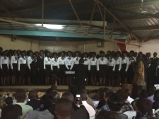 Mulago Church Choir performing at the competition