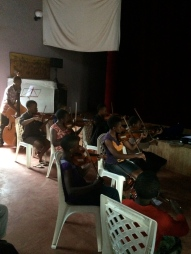 The first ever rehearsal of Tender Talents Symphony Orchestra: 3rd violins