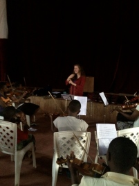 The first ever rehearsal of Tender Talents Symphony Orchestra