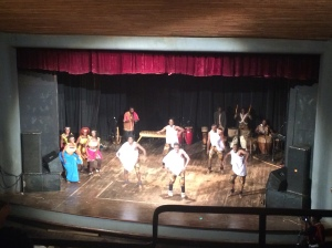 The show of Ugandan dances at the UNCC