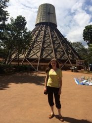 At the Ugandan Martyrs Memorial on the way to Kaka's