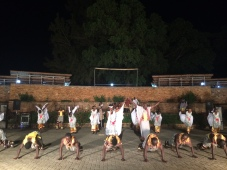 Show of Ugandan music and dancing
